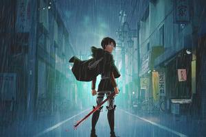 Shingeki No Kyojin Anime Boy 5k Wallpaper