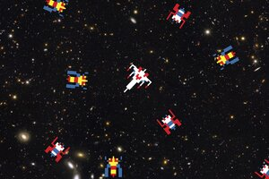 Shooter Spaceships Scifi Arcade Wallpaper