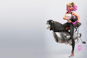 Short Hair Girl On Vehicle Artwork