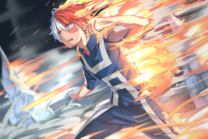 Shouto Todoroki My Hero Academia 4k Wallpaper