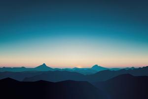 Silent Mountains Minimal 8k Wallpaper