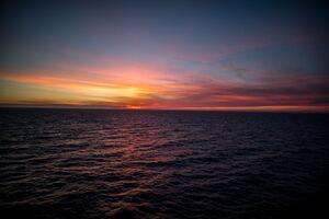 Silent Ocean Sunset 5k Wallpaper