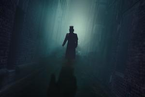 Silhouette Night Fog Man With Hat Walking 5k