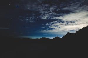 Silhouette Of Mountians 8k Wallpaper