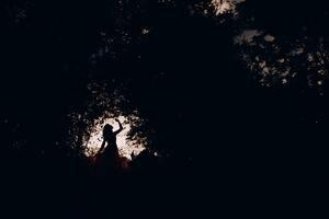Silhouette Women Dancing 4k