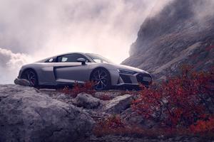 Silver Audi R8 2019 Wallpaper