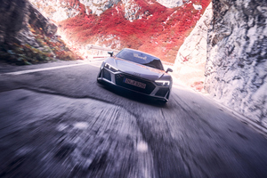 Silver Audi R8 Wallpaper