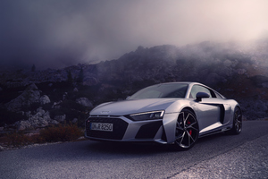 Silver Audi R8 New Wallpaper