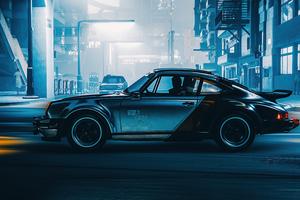 Silverhand Porsche Cyberpunk 2077 Wallpaper