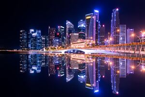 Singapore City Skyline 5k Wallpaper
