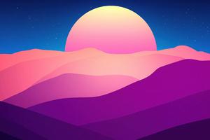 Sinking Sun 4k Wallpaper