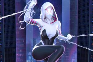 Sipder Gwen Superhero Girl Wallpaper