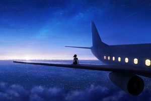 Sitting On Plane Wing 5k Wallpaper