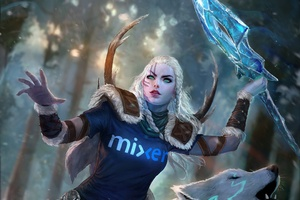 Skadi Mixer Skin Smite Wallpaper