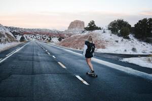 Skateboard Girl 4k 5k