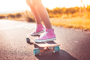 Skateboard Shoes Legs 4k Wallpaper