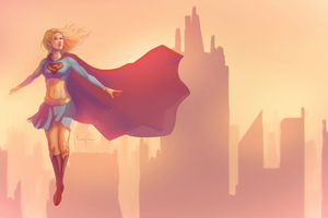 Sketch Art Supergirl 4k Wallpaper
