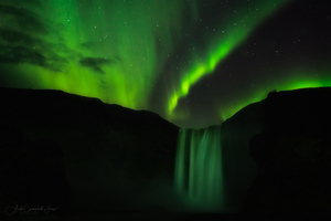 Skogafoss Aurora Wallpaper