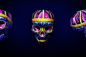 Skull 3d Art Bright Wallpaper
