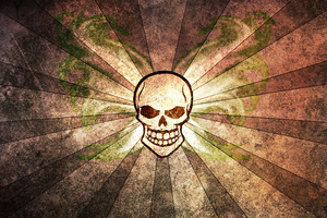 Skull Abstract Background Wallpaper