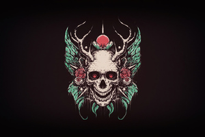 Skull Crown 4k Wallpaper