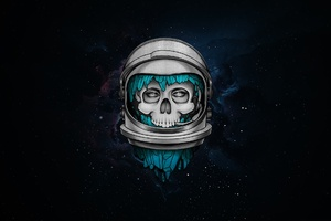 Skull Dark Astronaut Wallpaper