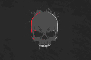 Skull Dark Minimalism 4k Wallpaper