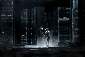 Skull Ghost Cityscape Dark Night