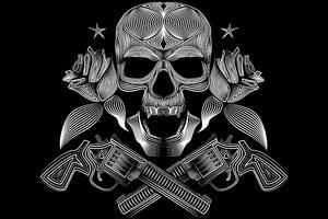 Skull Gun N Roses 8k Wallpaper