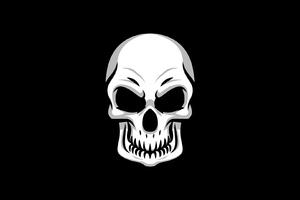 Skull Minimal Wallpaper