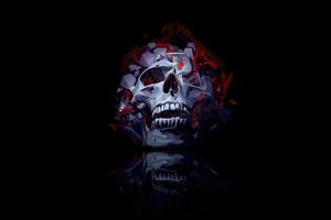 Skull Roses 4k