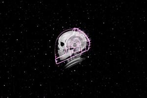 Skull Stars 4k