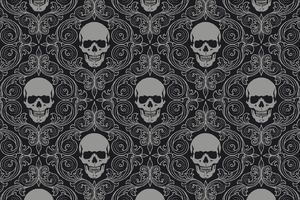 Skull Tiles Background Wallpaper