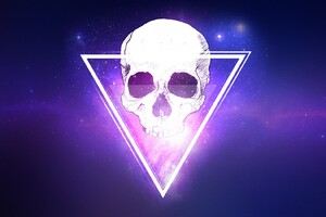 Skull Triangle 3d Wallpaper