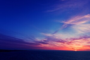 Sky Blue Sunlight Dark Wallpaper