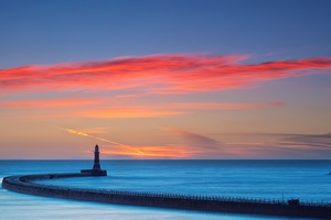 Sky Colorful Sea Lighthouse