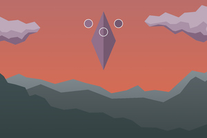 Sky Prism Minimal 8k Wallpaper