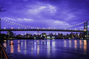 Skyline Triboro Nyc Bridge Wallpaper