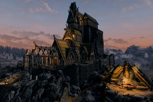 Skyrim Buildings Wallpaper
