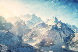 Skyrim Mountains