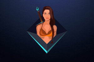 Skyrim Warrior Girl Digital Art 8k