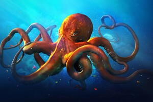 Slouching Octopus Wallpaper