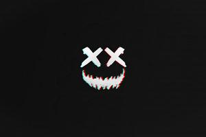 Smile Vector Dark 4k Wallpaper