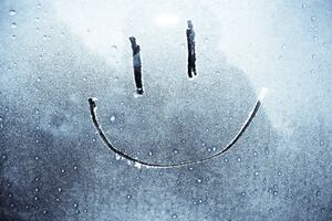 Smiley On Window Wallpaper