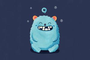 Smiling Creature 4k Wallpaper