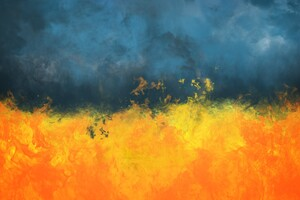 Smoke Fire Painting Abstract