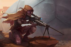 Sniper Girl Art 4k