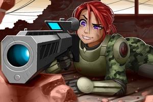 Sniper Girl Artwork Wallpaper
