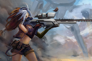 Sniper Girl Fantasy Art 4k Wallpaper