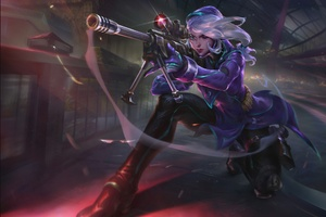 Sniper Rifler Woman Warrior Wallpaper